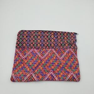 Scoop NYC Embroidered Zippered Pouch
